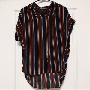 Madewell Central Drapey Shirt in Menford Stripe